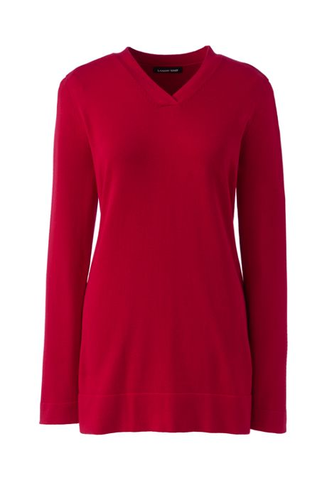 Women's Plus Size Cotton V-neck Tunic