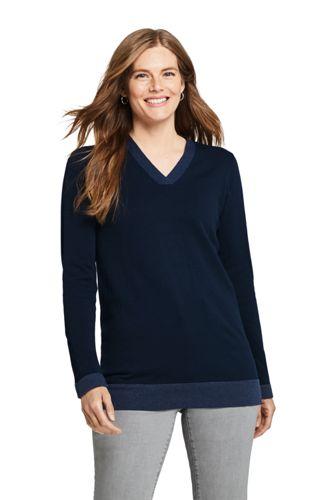 Feinstrick-Tunika aus Baumwolle für Damen