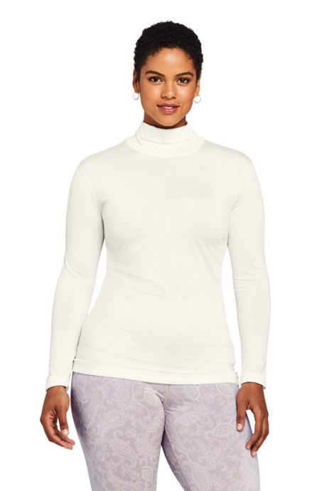 Women's Plus Size Natural Thermaskin Turtleneck