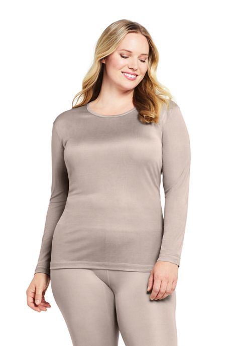 Women's Plus Size Silk Interlock Crewneck