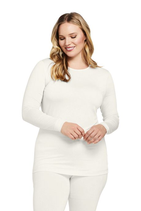Women's Plus Size Natural Thermaskin Crewneck