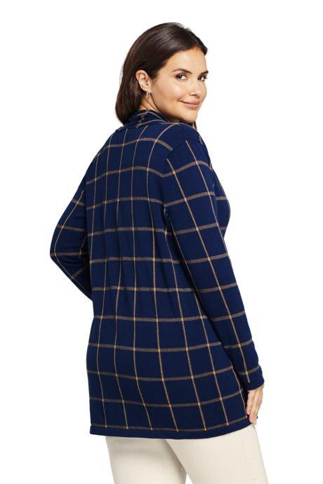 Women's Plus Size Cotton Long Sleeve Open Cardigan Sweater Pattern