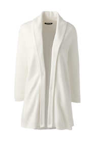 Women's Tall 3/4 Sleeve Textured Long Cardigan Sweater