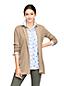 Women's Petite Three-quarter Sleeve Textured Open Cardigan