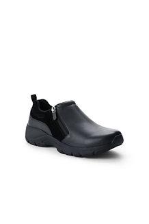 Chaussure Chaude Zippée Cuir et Daim, Femme