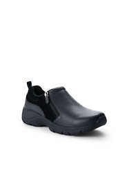 School Uniform Women's Wide Width Insulated Winter All Weather Leather Zip Moc Shoes
