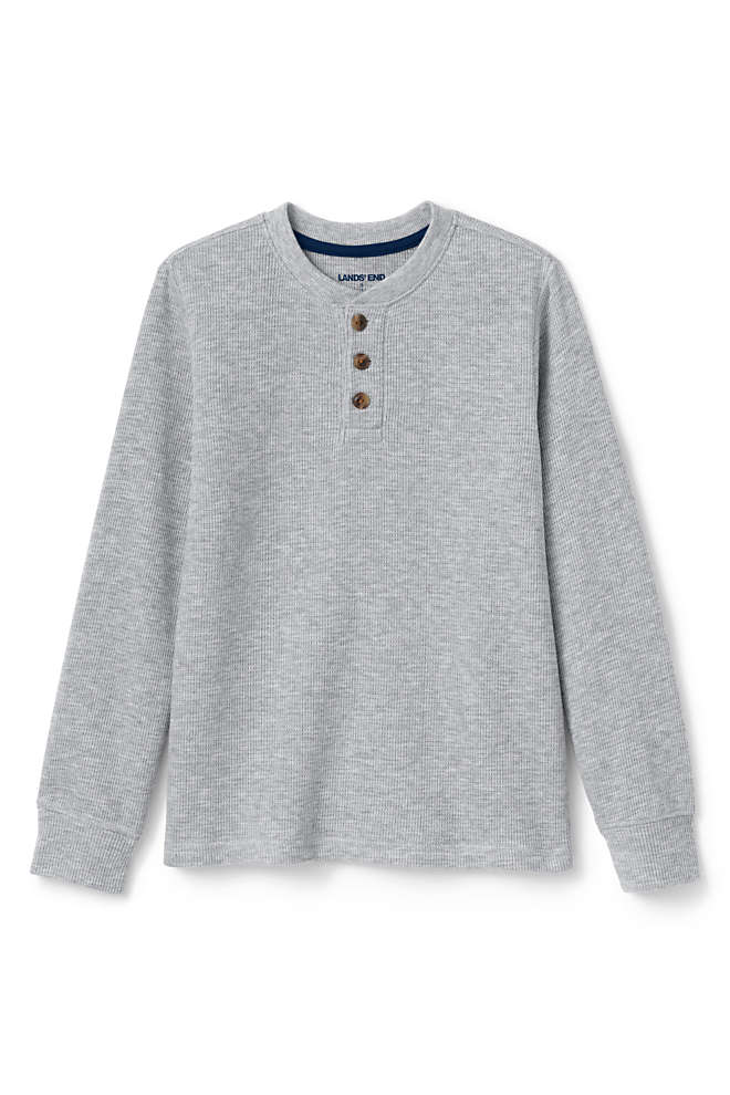 Boys Thermal Henley Shirt, Front