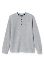 Boys Husky Thermal Henley Shirt