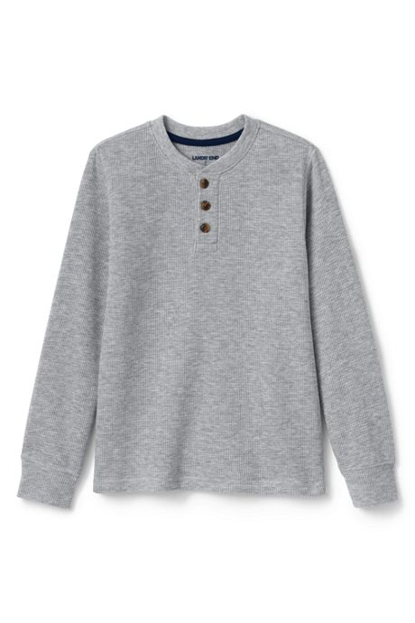 Boys Thermal Henley Shirt