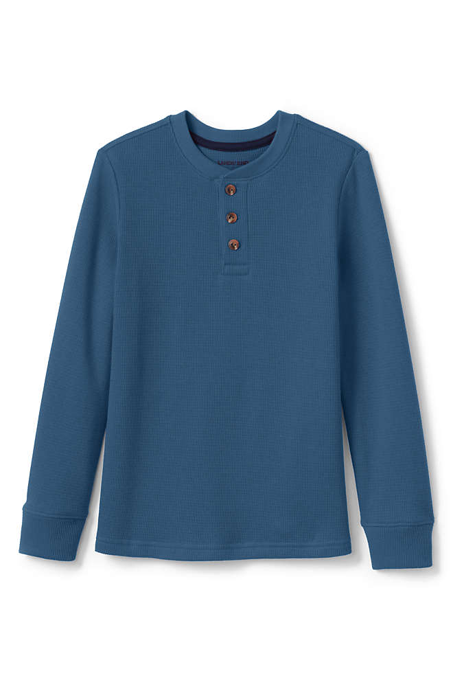 Little Boys Thermal Henley Shirt, Front