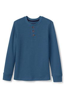 T-Shirt Henley Thermique Gaufré à Manches Longues, Garçon