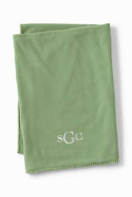 Recycled Fleece Solid Throw