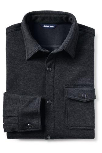 Men's Traditional Fit Fleece Bonded Outrigger Shirt Jacket