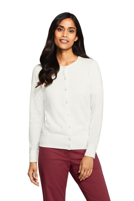 Women's Tall Supima Cotton Cardigan Sweater - Textured