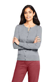 Women's Petite Supima Cotton Cardigan Sweater - Textured