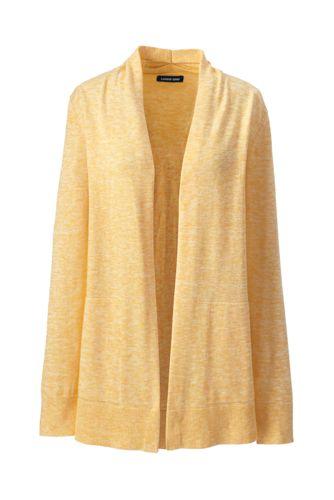 Cardigan Ouvert en Coton, Femme Stature Standard