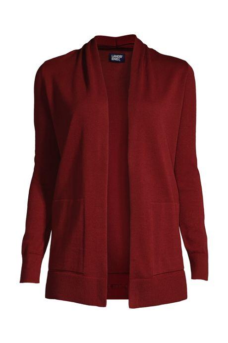 Women's Cotton Long Sleeve Open Cardigan Sweater
