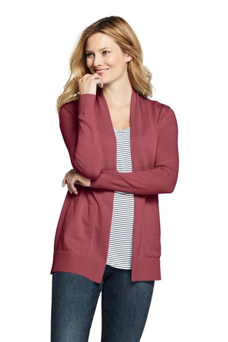 Women's Cotton Long Sleeve Open Cardigan Sweater