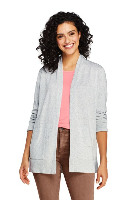 Women's Tall Cotton Open Long Cardigan Sweater