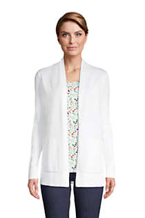 Women's Tall Cotton Open Long Cardigan Sweater , Front