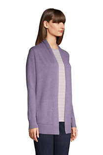 Women's Cotton Open Long Cardigan Sweater , alternative image