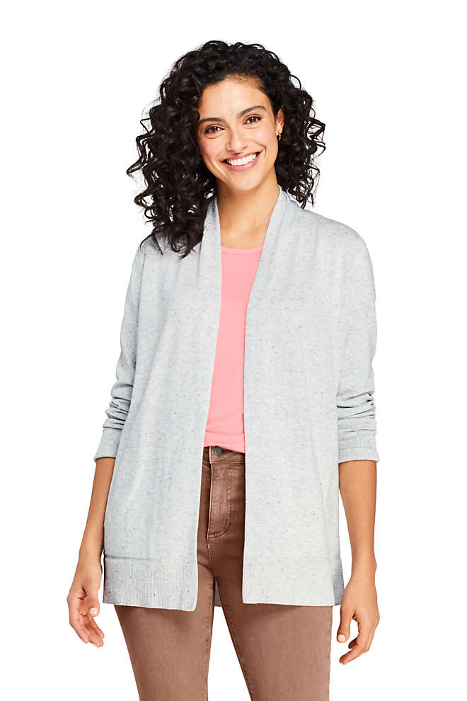 Women's Cotton Open Long Cardigan Sweater , Front