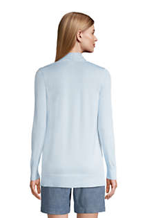 Women's Cotton Open Long Cardigan Sweater , Back
