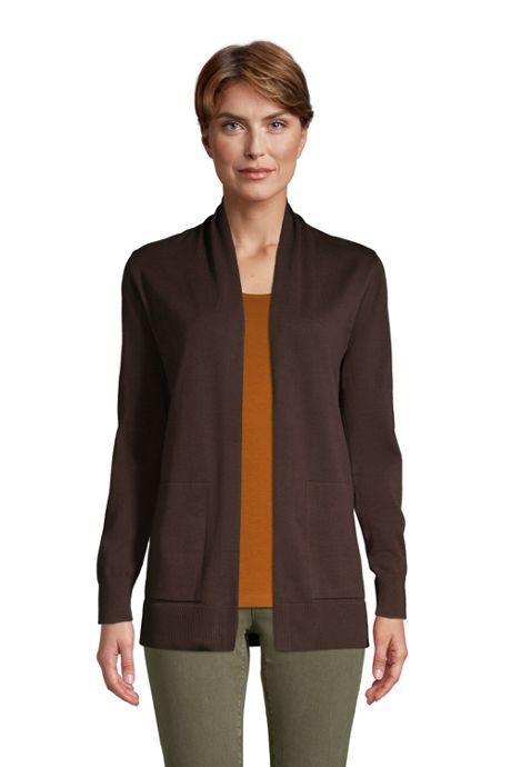 Women's Cotton Open Long Cardigan Sweater