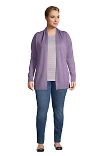 Women's Plus Size Cotton Open Long Cardigan Sweater, alternative image