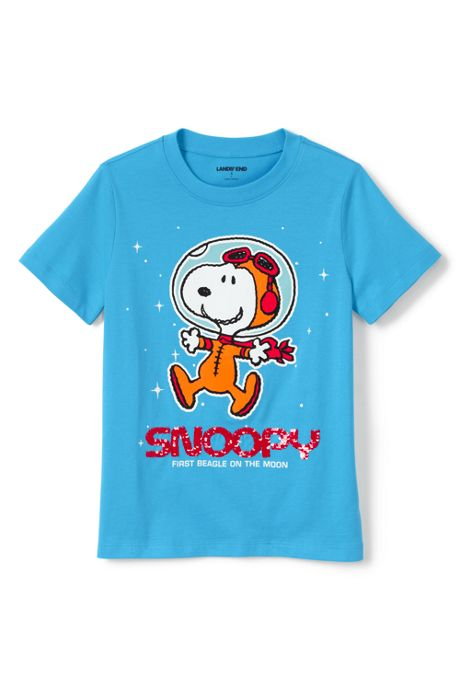 Kids Husky-Plus Peanuts Snoopy Flip Sequin Graphic Tee Shirt