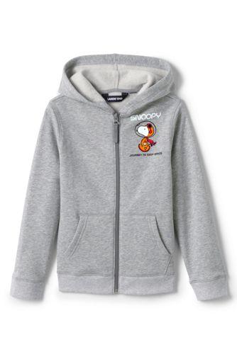 Little Kids' Snoopy Fleece Zip Front Hoodie