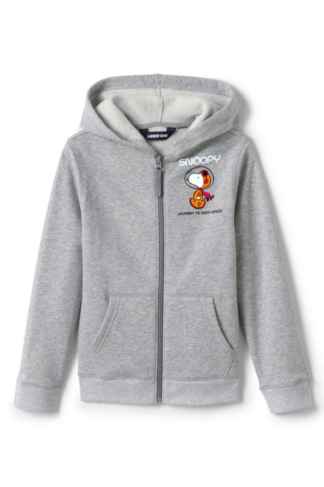 Toddler Kids Peanuts Snoopy Fleece Zip Front Hoodie