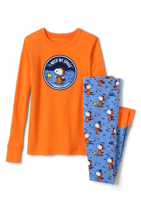 Toddler Kids Peanuts Snoopy Snug Fit Pajama Set