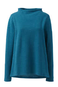 Women's Plus Size Mock Neck Pullover Long Sleeve Top