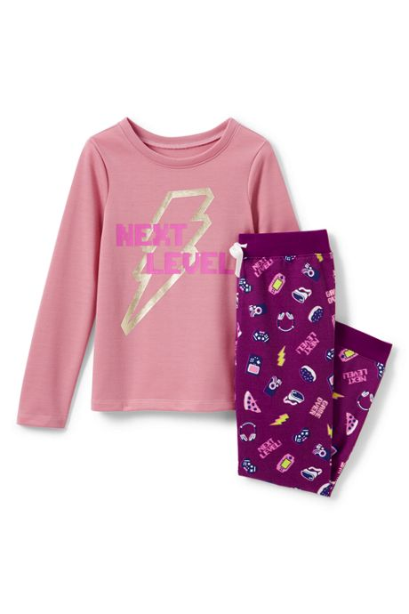 Girls French Terry Pajama Set