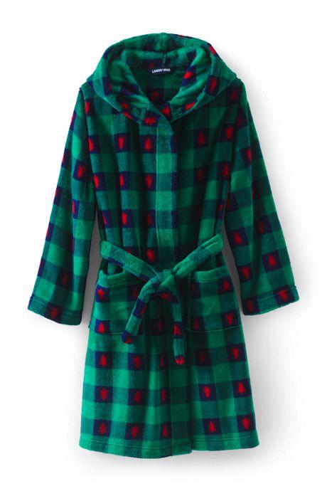 Kids Hooded Fleece Printed Robe