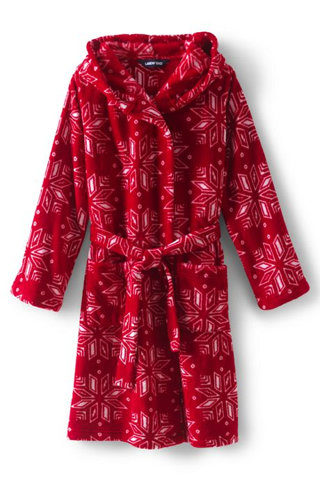 Kids Hooded Fleece Printed Robe