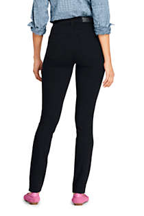 Women's Slimming Compression High Rise Skinny Jeans - Black, Back