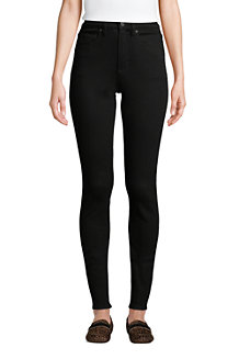 Women's Slimming Jeans, High Waisted Skinny Leg, Black