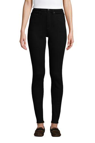 Schwarze Shaping Jeans, Skinny Fit High Waist