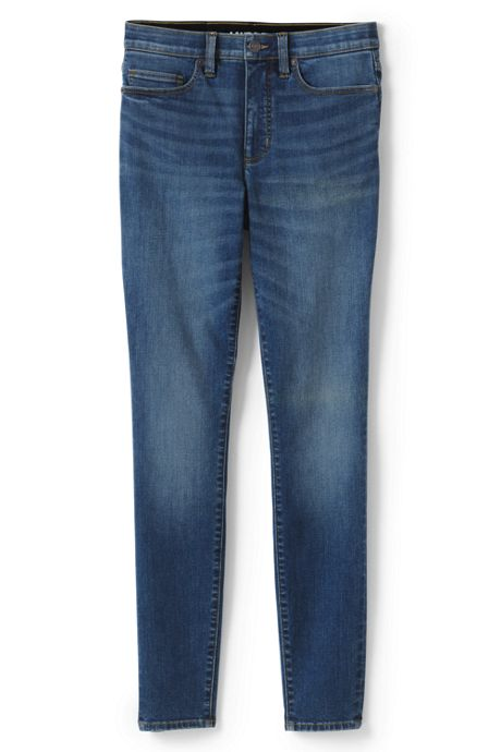 Women's Petite Slimming Compression High Rise Skinny Jeans - Blue