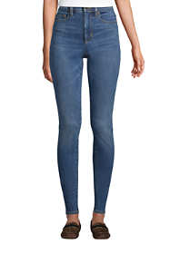 Women's Tall Slimming Compression High Rise Skinny Blue Jeans
