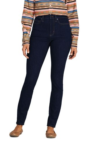 Jean Amincissant Skinny Taille Haute Indigo, Femme Stature Standard