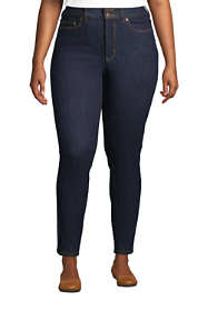 Women's Plus Size Slimming Compression High Rise Skinny Jeans - Blue