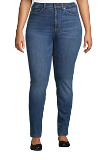 Women's Plus Slimming Jeans, High Waisted Skinny Leg, Indigo