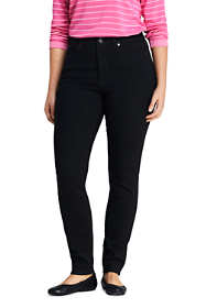 Women's Plus Size Slimming Compression High Rise Skinny Jeans - Black