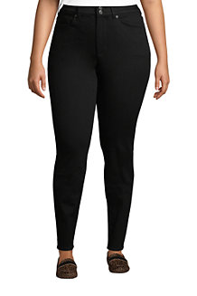Women's Plus Slimming Jeans, High Waisted Skinny Leg, Black