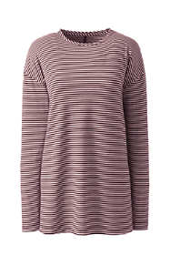 Women's Plus Size Moisture Wicking UPF Sun Long Sleeve Stripe Tunic Top