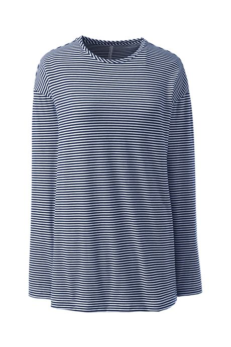 Women's Moisture Wicking UPF Sun Long Sleeve Tunic Top Stripe