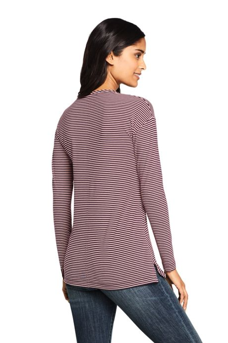 Women's Tall Moisture Wicking UPF Sun Long Sleeve Tunic Top Stripe